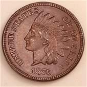 1876 1C MS65 BN