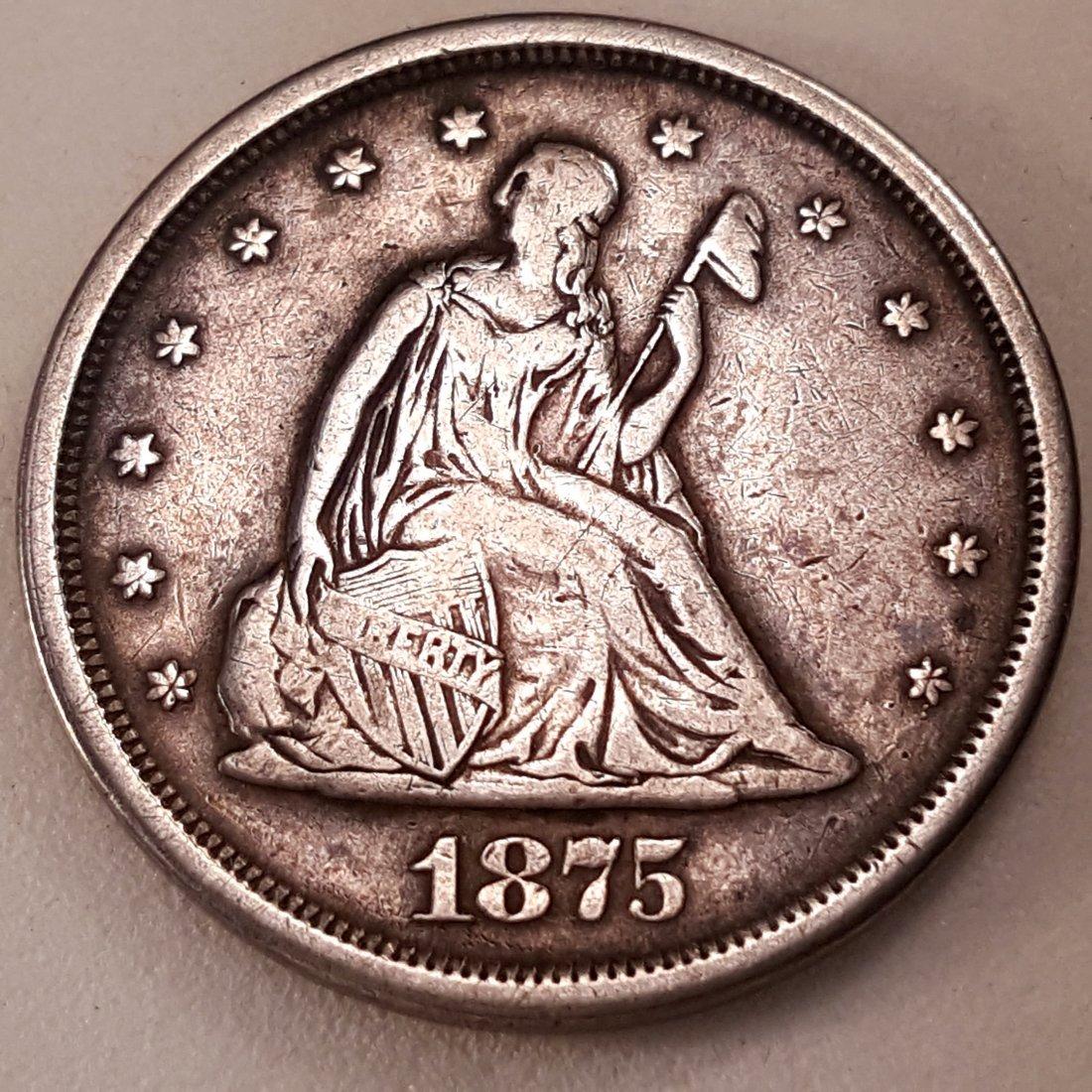 1875 -S 20C VF+
