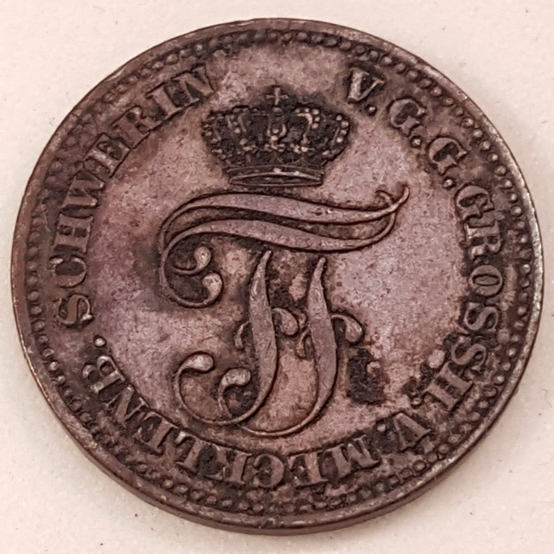 1872 -B GERMAN STATES 2 PFENNIGE XF MECKLINBURG & - 2