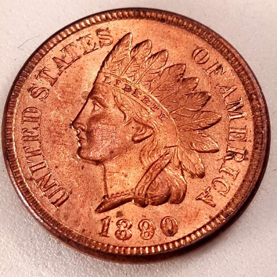 1890 1C MS64 RED BRILLIANT RED BORDERLINE GEM!