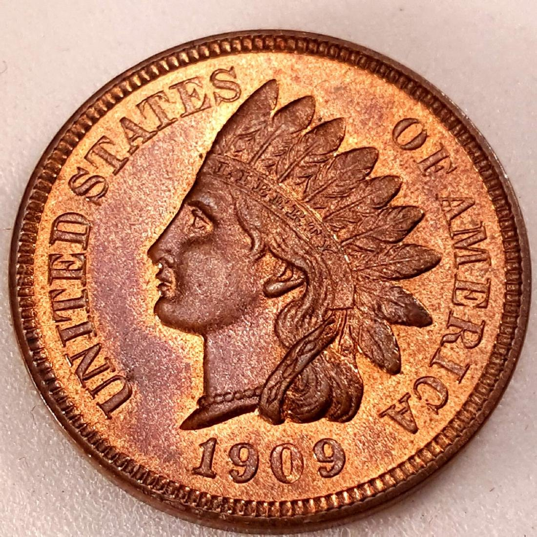 1909 1C INDIAN MS64 RB