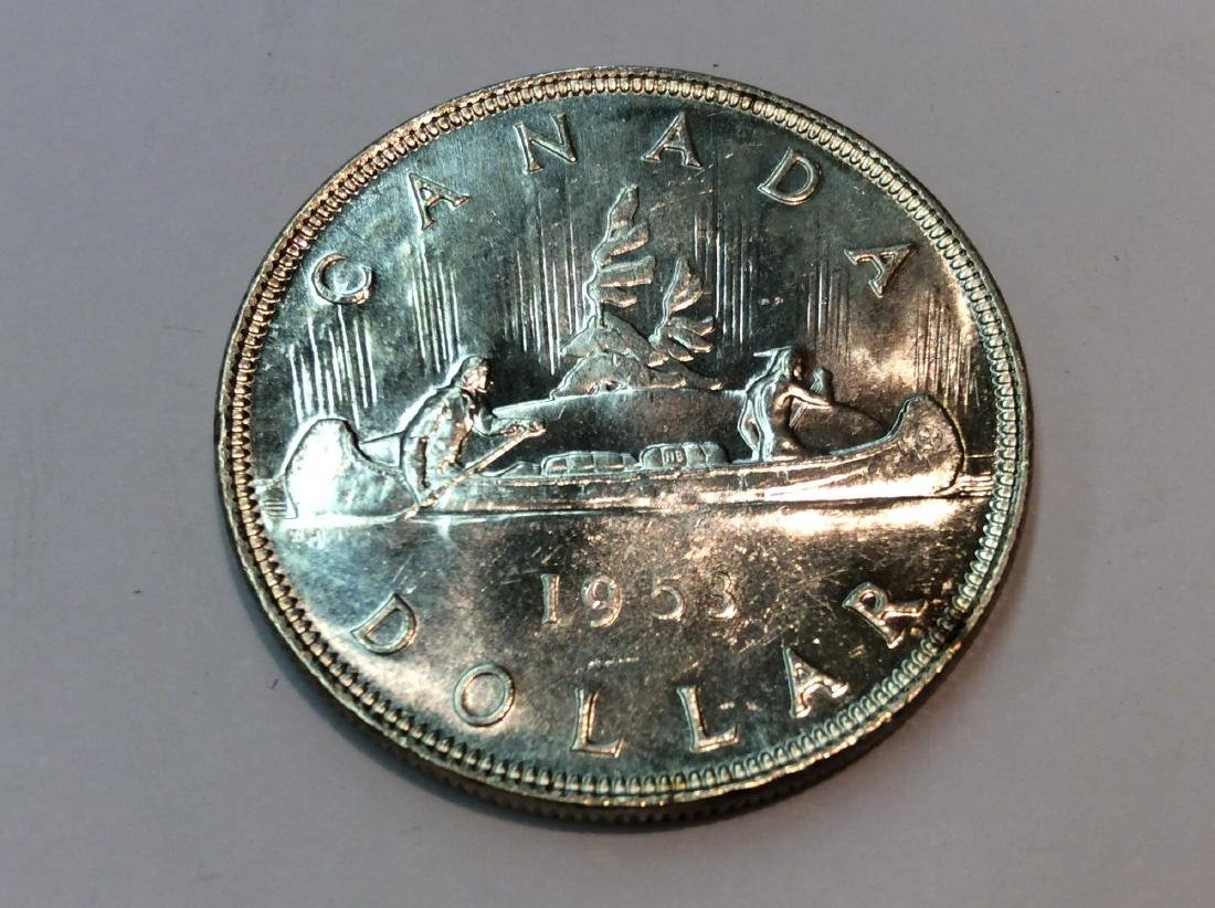 1953 CANADA $1 MS63 NO SHOLDER FOLD