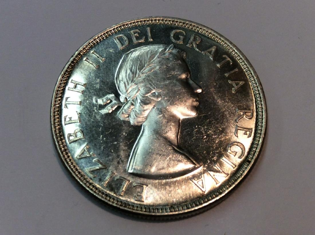 1953 CANADA $1 MS63 NO SHOLDER FOLD - 2