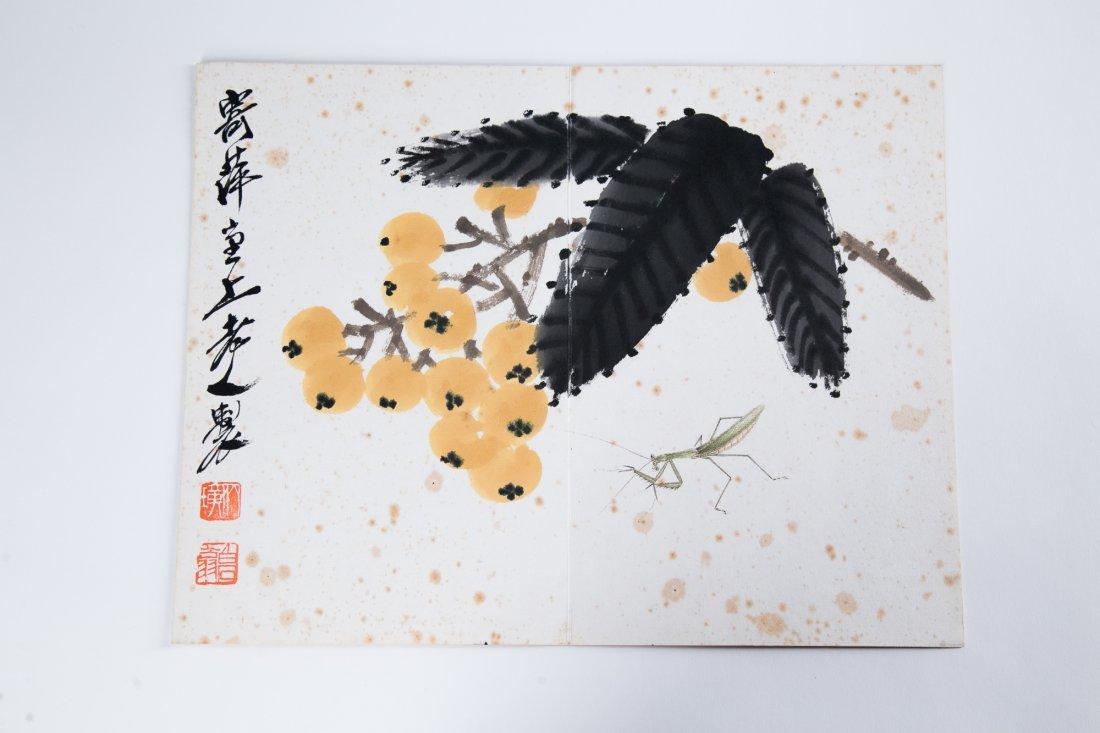 QI BAISHI (1863-1957), LOQUAT AND MANTIS