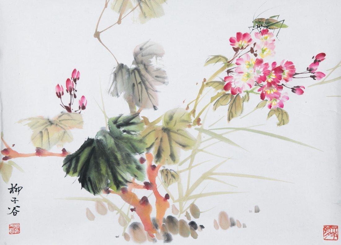 LIU ZIGU (1901-1986), BIRDS AND FLOWERS