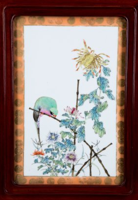A PORCELAIN PLAQUE, QING DYNASTY, 19TH CENTURY