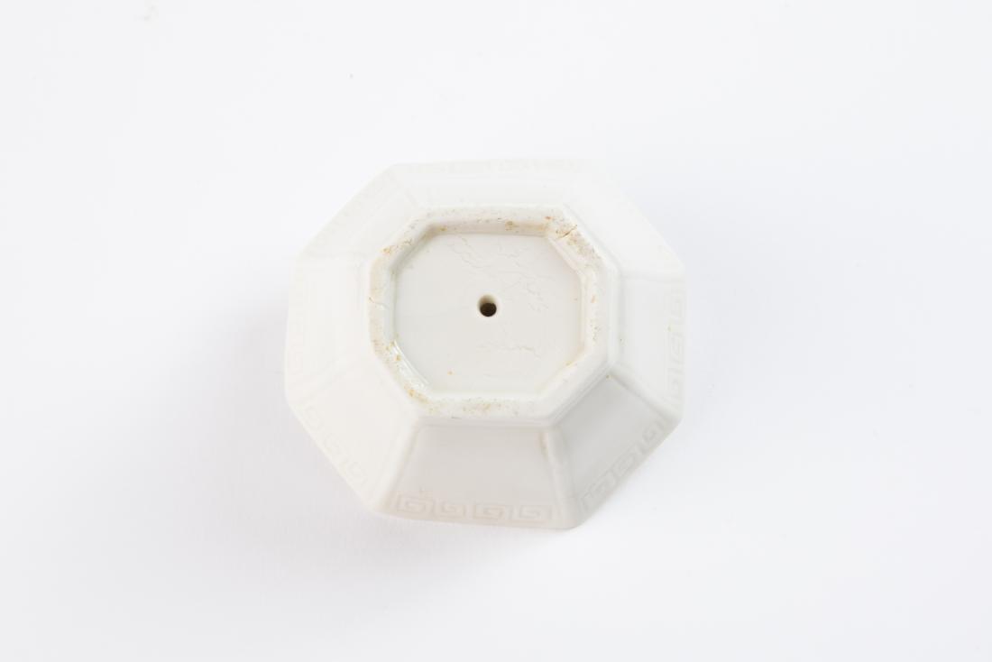 A DEHUA WHITE-GLAZED TRIPOD CENSOR, EARLY QING DYNASTY - 9