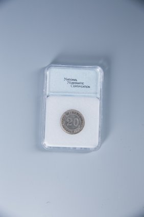 A Chinese 1936 Republic Silver Coin, Nnc - Ms 63