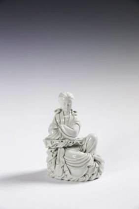 A Chinese Blanc De Chine Porcelain Guanyin
