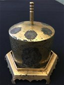 A CHINESE LIAO STYLE GILT STUPA AND RELIC