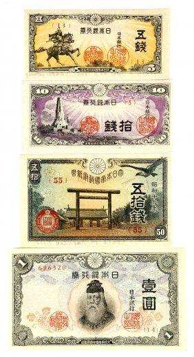4 Bank Of Japan Banknotes