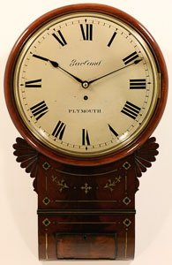 Garland, Plymouth. A Fine Regency Drop Dial Clock With