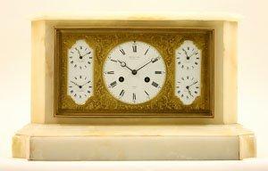 A World Time Clock By Bourdin, Paris