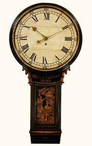 James Calver, Diss. A Good Black Lacquer Tavern Clock