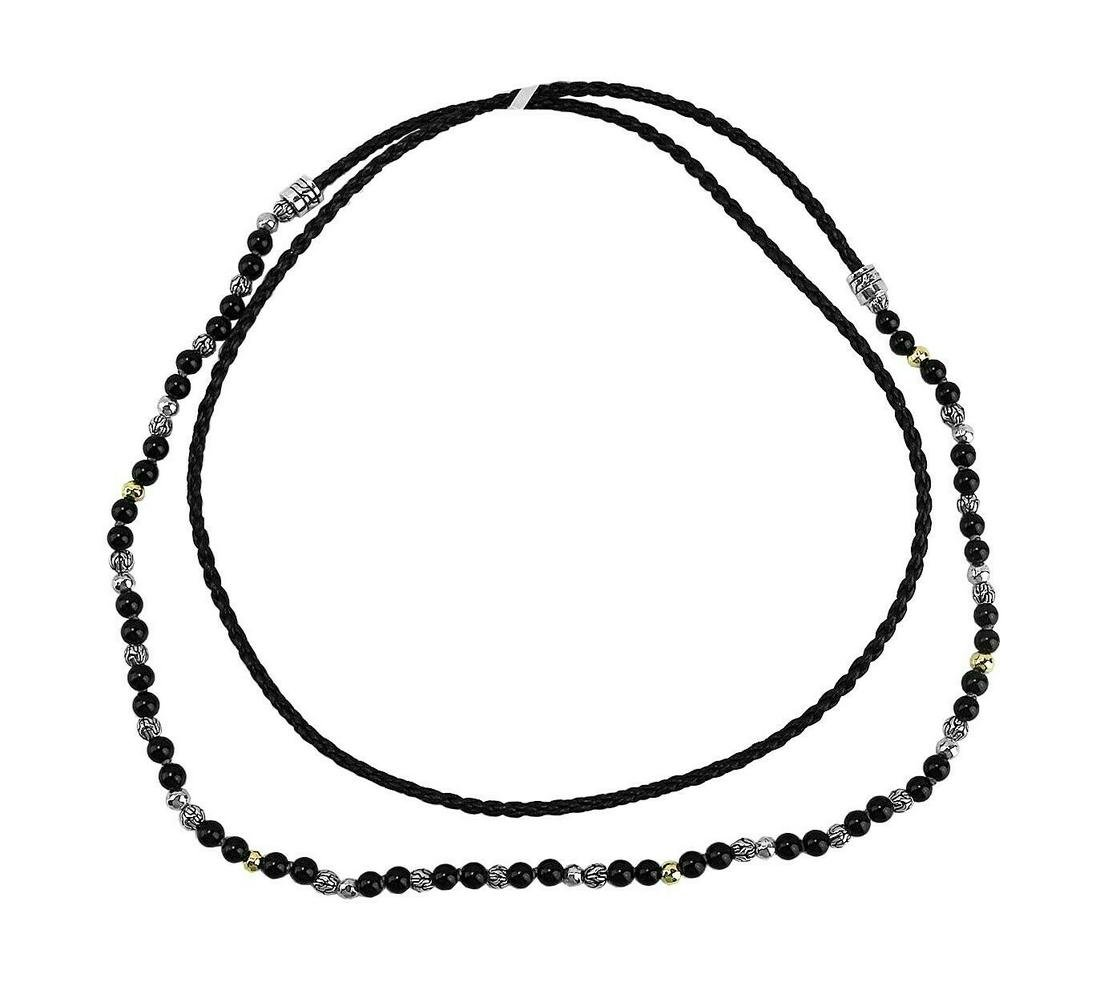 JOHN HARDY ST.SILVER CLASSIC CHAIN GOLD ONYX BEADS