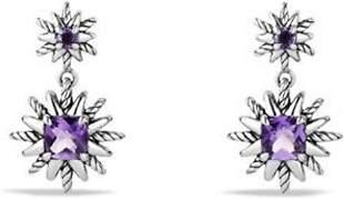 David YURMAN Starburst Double Drop Amethyst Earrings