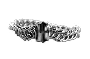 DAVID YURMAN SOLID STERLING SILVER 16mm DOUBLE CURB