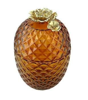 Jay Strongwater Pineapple Gilded WILDEROSE ON Amber