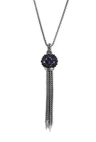 DAVID YURMAN ST. SILVER CABLE OSETRA BERRIES AMETHYST