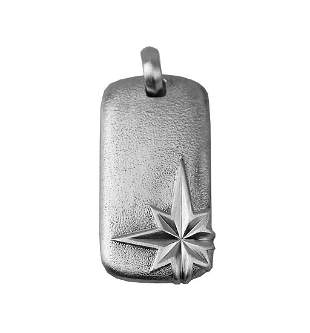DAVID YURMAN AMAZING ST. SILVER NORTH STAR DOG TAG