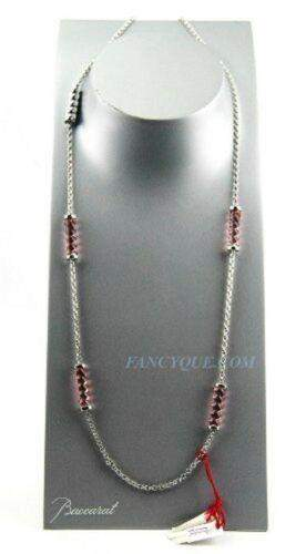 BACCARAT TORSADE ST. SILVER LONG PINK    NECKLACE