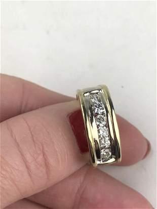 Men's Ring 14K Yellow Gold/ Diamond Size 8
