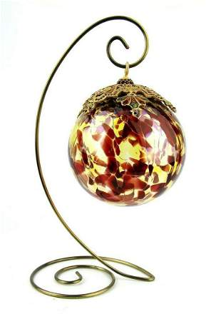 JAY STRONGWATER CHRISTMAS ORNAMENT BALL LARGE CHOCOLATE