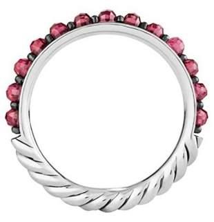 David Yurman Cable Berries Rhodolite Garnet Ring  s.6