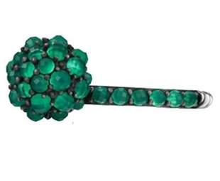 David Yurman 10mm Osetra Cable Berries Green Onyx Ring