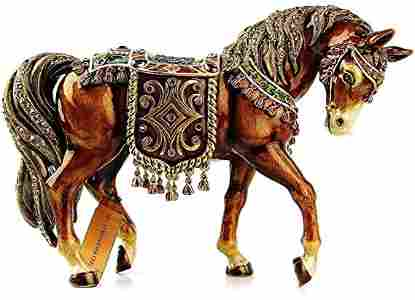 """Jay Strongwater Holiday Large 8""""Tapestry Horse Figurine"""