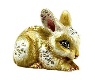 """JAY STRONGWATER LARGE 3,75\"""" FLORA & FAUNA BUNNY MAGGIE"""