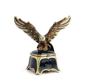 JAY STRONGWATER GORGEOUS DILLON EAGLE TRINKET BOX