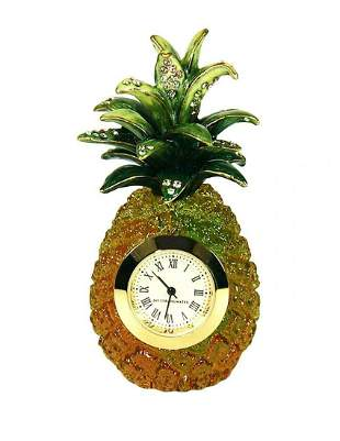 JAY STRONGWATER AHULANI PINEAPPLE MINI CLOCK