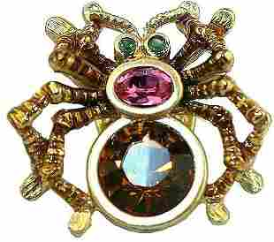 Jay Strongwater TACK PIN Baby Spider