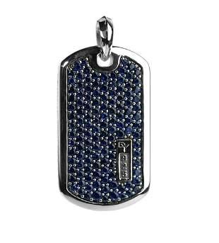 David Yurman Sterling Silver Pave Sapphire XLarge 42 mm