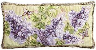 """Jay Strongwater Lilacs 22"""" x 11"""" Pillow Cotton Blend"""