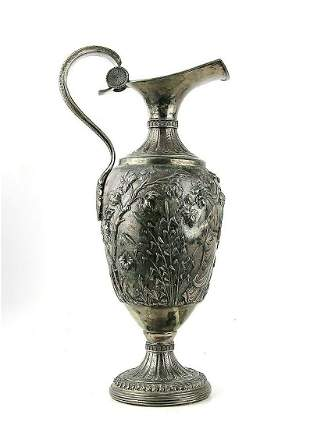 ANTIQUE 18th CENTURY LARGE .800 SILVER EWER PITCHER