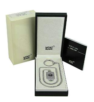 MONTBLANC .925 ST. SILVER BELT KEY RING CHAIN 38442