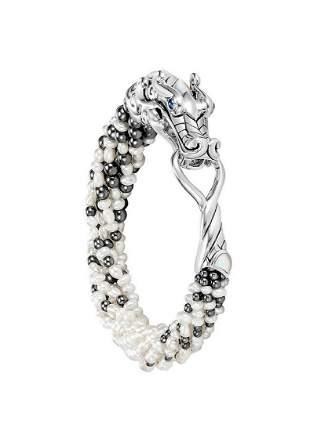 John Hardy Legends Naga Multi-Row Pearl Bracelet