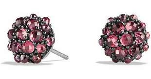 David Yurman 10mm Osetra Rhodolite Garnet Stud Earrings