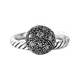 DAVID YURMAN 8 MM WHITE DIAMOND BALL STACK RING # 8