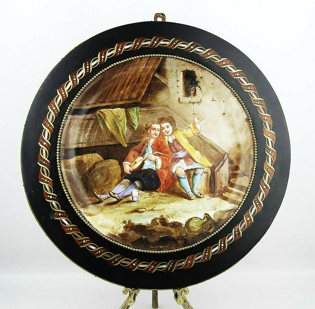 ANTIQUE SEVRES EXTRA LARGE WALL CABINET PLATE SIGNED