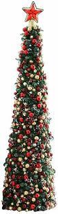 MACKENZIE CHILDS TARTAN FROSTED BEADED CHRISTMAS TREE