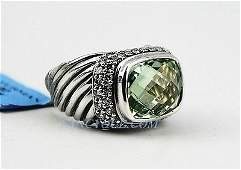 DAVID YURMAN SILVER RING DIAMONDS 1.29 CTW  # 21