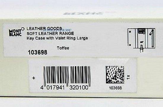 MONTBLANC LEATHER RANGE KEY CASE WALLET 103698 - 10