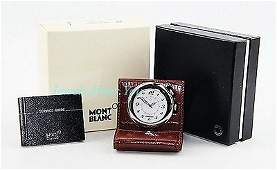 MONTBLANC BOHEME TRAVEL ALARM CLOCK SWISS 9677