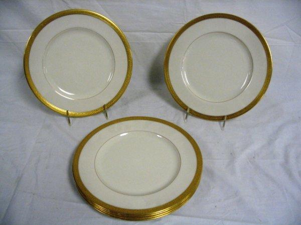 SET OF 6 GOLD MARK LENOX SERVICE PLATES