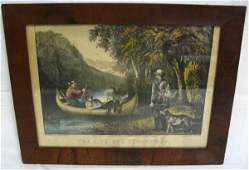 CURRIER  IVES PRINT THE LIFE OF A SPORTSMAN