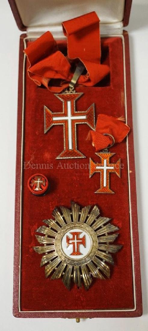 PORTUGUESE ORDER OF CHRIST GRAND CROSS SET