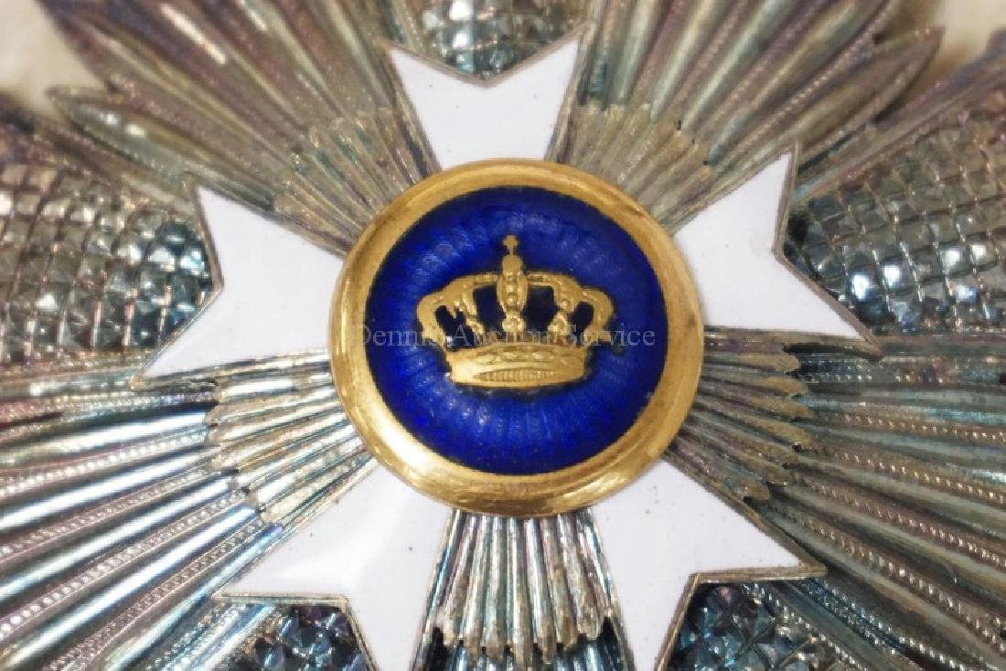 ENAMELED MILITARY ORDER BREAST STAR WITH A CROWN IN THE - 2